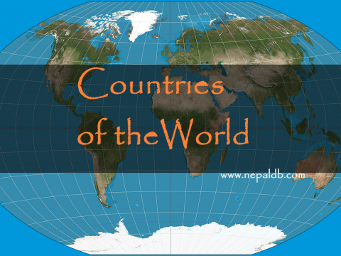 Countries of the world. Map.